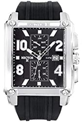 Hector Men's Black Dial Date And Month Watch