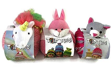 0f5064f1a DMC Top This! Yarn Hat Kits, 3-Pack (Unicorn/Bunny/Kitten)