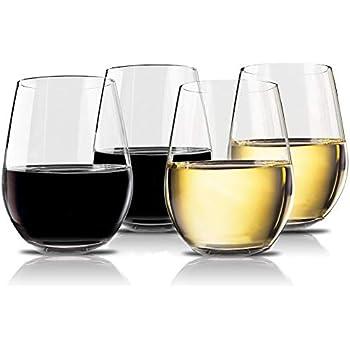 10d05aeba79 Vivocci Unbreakable Elegant Plastic Stemless Wine Glasses 20 oz | 100%  Tritan Heavy Base | Shatterproof Glassware | Ideal For Cocktails & Scotch |  Perfect ...