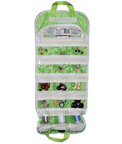 EASYVIEW Arts Crafts and Sewing Organizer - Portable Hanging Storage Case (Green) - Hutch Plus Storage