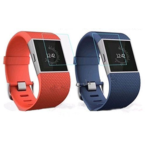 Mobile Phones & Accessories - Fitbit Surge Band Screen Protector Parts For Fit Bit 2 Buckle Blue Replacement - Hd Clear Screen Protector Shield Guard Skin Scratch-Resistant For Fitbit Surge - - 1pcs
