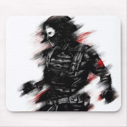 Mouse pad Winter soldier 9x7 inch Laptop pad Office PC Mouse pad Bucky Barnes -  BIHBDesign