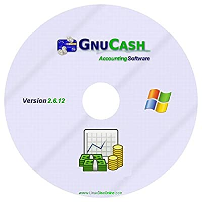 GNUCash Accounting Software for Microsoft Windows - Professional Accountant - Quicken Alternative on CD