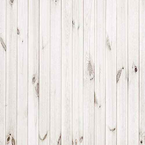 CYLYH 10x10ft White Wood Backdrop Wood Texture Backgrounds