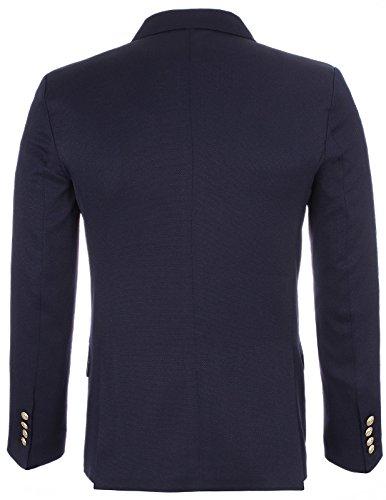 Designer Flatseven Navy Blue Croisé Jacket Peak Blazer Man Dans Revers vOvZpTxqw