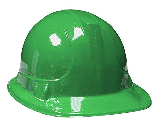 Green Plastic Construction Hard Hats-12 -