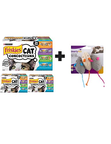 Concoctions Variety Pack Cat Food - (24) 8.25 lb. Box (3 Pack + Mice Cat Toys) ()