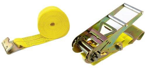 - PROGRIP 315800 Heavy Duty Tie Down Ratchet with Polyester Webbing Strap: Flat Hooks, 27' x 3