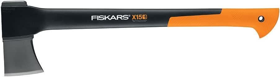 "Fiskars 378571-1002 X15 Chopping Axe 23.5"", 23.5 Inch, Orange/Black,Yellow/Black"