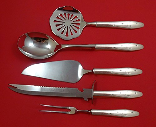 Dawn Star by Wallace Sterling Silver Thanksgiving Holiday Serving Set 5pc Custom - Wallace Dawn Star