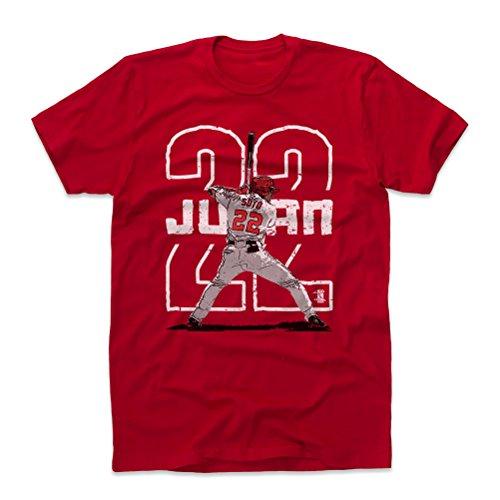 500 LEVEL Juan Soto Cotton Shirt Small Red - Washington Baseball Men's Apparel - Juan Soto Outline W WHT