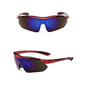 ASTIM Unisex Outdoor Sports Sunglasses Windproof Sand Glasses(Purple)