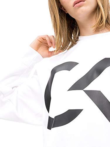 00gwh8w353 Bianco S Klein Calvin Donna Felpa Sxw4Hfqf