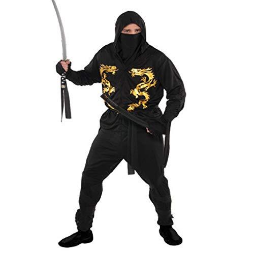 amscan Adult Black Dragon Ninja Costume Plus Size]()
