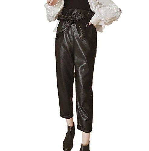 引き受けるエスカレーター追放するHeaven Days(ヘブンデイズ) パンツ ズボン PUレザー クロップド丈 ハイウエスト ワイドパンツ レディース 1711M0264