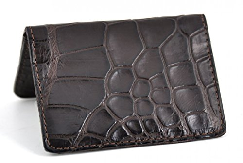 - Business Card / Credit Card Case - American Alligator (Brown)