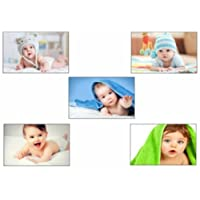 PRINTELLIGENT Decorative Baby Poster Size 12 inch x 18 inch (Combo Set of 5 Posters) Khirki Multi Color Model1