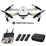 Drones with Camera 1080P HD, Global Drone GD88 PRO, Selfie Pocket Drone with Case, Altitude Hold, One Key Take Off/Landing, Wi-Fi FPV Quadcopter Drones for Adults, Beginners-(3PCS Batteries)