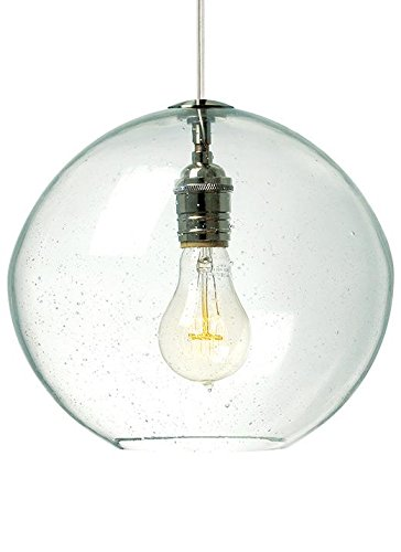 Lbl lighting lf512crsc2d60 isla collection 1 light mini pendant clear glass with satin