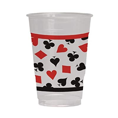 Creative Converting 8 Count Plastic Cups, 16-Ounce, Card Night: Toys & Games