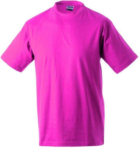 Round-T Shirt Heavy/James & Nicholson (JN 002) S M L XL XXL 3XL 4XL 5XL Pink,S