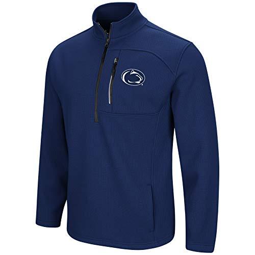 (Colosseum Men's NCAA-Townie-1/2 Zip-Corded-Fleece Pullover Jacket-Penn State Nittany Lions-Dark Blue-XL)