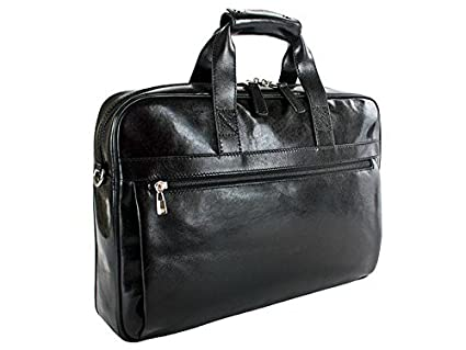 a4065e035 Amazon.com | Bosca Old Leather Single Gusset Stringer Bag (Black) |  Briefcases