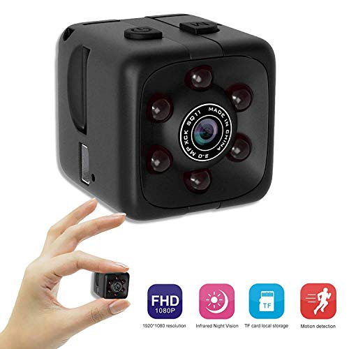 Mini Surveillance Camera - Tiny 1 Cubic Inch 1080p Hd Wide Angle Home  Security Camera with Motion Detection and Night Vision - Nanny Cam, Cop  Cam,