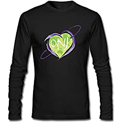YLIN Men's Love Olivia Newton-John ONJ Logo Long Sleeve T-shirt Size XXL Black