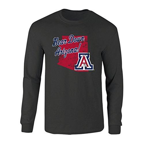 Arizona Long Sleeve T-shirt (Arizona Wildcats Long Sleeve Tshirt Vintage Heather Gray - L)