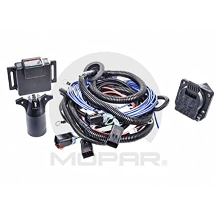 Fantastic Amazon Com Mopar 82212384Ac Trailer Tow Wiring Harness Seven Way Wiring Digital Resources Funapmognl