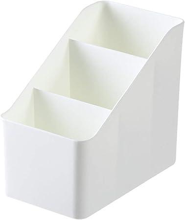 KingbeefLIU Escritorio De Oficina En Casa Cosmético Caja De Almacenamiento Remoto Caja Estuche Soporte Misceláneas Organizador Espacio De Almacenamiento Conveniente En Casa Blanco: Amazon.es: Hogar