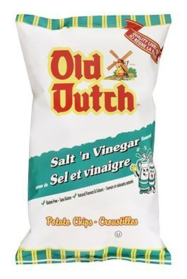 Old Dutch Salt & Vinegar Flavoured Potato Chips 255g {Imported from (Old Dutch Foods)