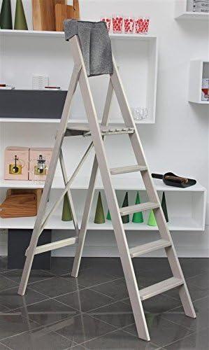 bioecoshop escalera de 6 peldaños bioeco DF Ho Grey tinta gris claro con tascone Porta Herramientas: Amazon.es: Bricolaje y herramientas