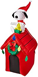 Gemmy Peanuts Snoopy Airblown Inflatable 4\' Doghouse
