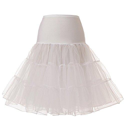 Slip Half Vintage (Blidece Women's Plus Size 50s Vintage Tutu Skirt Petticoat Rockabilly Crinoline Underskirt White 3XL)
