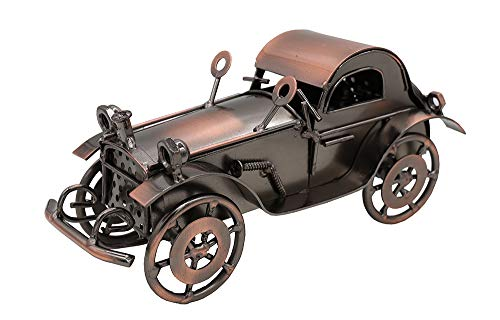 ABURA Handmade Retro Nostalgia Classic car Model,Pop Time Iron Car Model Ornament for Home Office Decoration(Bronze Classic Car Model)