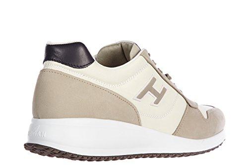 Hogan chaussures baskets sneakers homme en cuir interactive n20 bianco