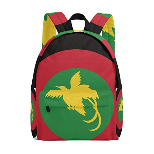 Papua New Guinea Flag Target School Backpack, Casual College Daypack Shoulder Book Bags Back for Men Womens Boys Girls
