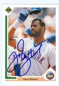 Daryl Boston autographed Baseball Card (New York Mets) 1991 Upper Deck