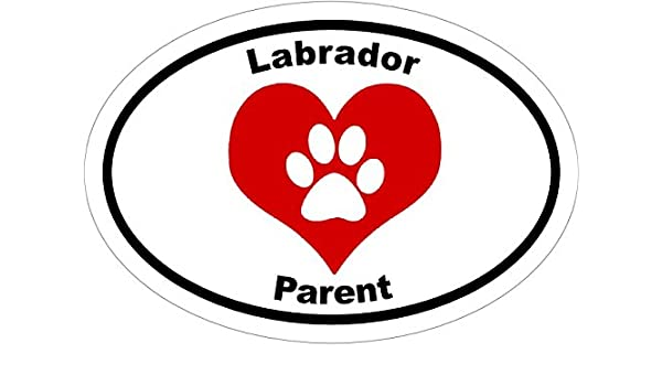 WickedGoodz Oval Heart Paw Labrador Parent Vinyl Window Decal Perfect Lab Owner Gift Dog Breed Bumper Sticker
