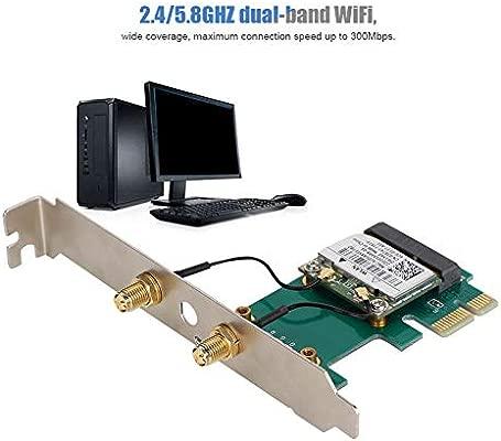 Wendry Tarjeta de Red de Banda Dual, WiFi de Banda Dual 2.4/5.8GHZ ...
