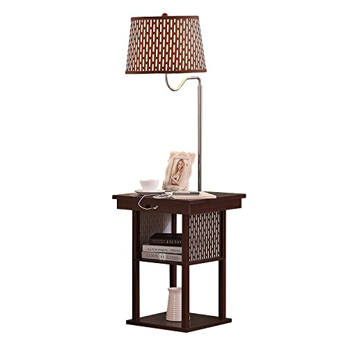 Living room end table lamps amazon brightech madison led floor lamp swing arm lamp w shade built in end table shelf includes 2 usb ports 1 us electric outlet bedside table lamp for aloadofball Gallery