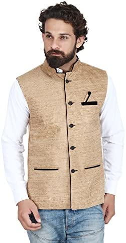 c045089ab56 PSK Men s Cotton Blend Nehru and Modi Skin Jacket Ethnic Style For Party  Wear Size-38  Amazon.in  Clothing   Accessories