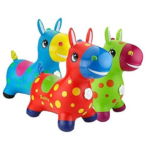 Baobe Horse Ride On, Caballo para Saltar Bomba Inflable Incluida, Caballo Inflable, Caballo de Salto para Niños con el Mejor Caucho Ecológico (Verde)