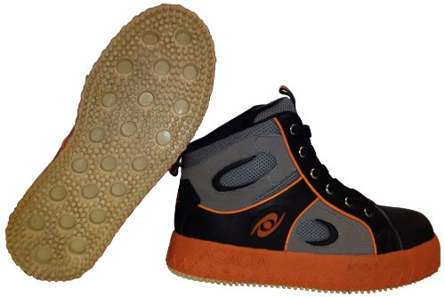ACACIA Grip-Inator Broomball Shoes, Gray/Black/Orange, 5 by Acacia