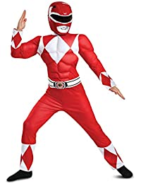 Red Ranger Classic Muscle Child Costume, Red, Size/(4-6)