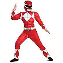 Disguise Red Ranger Classic Muscle Child Costume, Red, Large/(10-12)