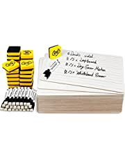 Double Sided Dry Erase Lap Boards - Lined/Plain, Ohuhu 25-Pack 9 x 12 Inch Small Classroom Whiteboards Set, Including 25 x Lap Boards, 25 x Black Markers, 25 x White Board Erasers, Mini White Boards for Students, Kids, Classroom Teaching Supplies Tools, Back to School Gift