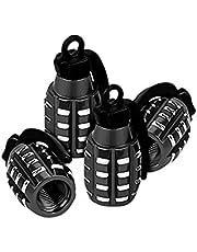 Aluminum Valve Stem Caps, 4 Pcs Hand Grenade Style Car Wheel Tire Valve Caps for Car Truck Motorcycle Bike